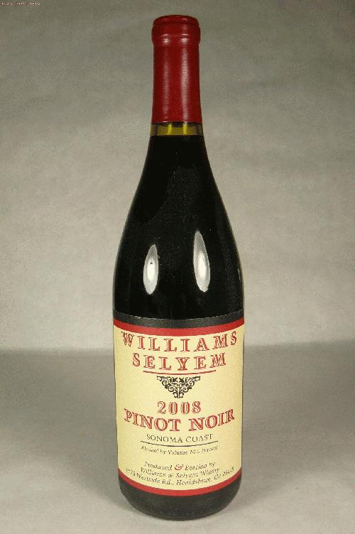 2008 Williams Selyem Pinot Noir Sonoma Coast Pinot NoirST:91