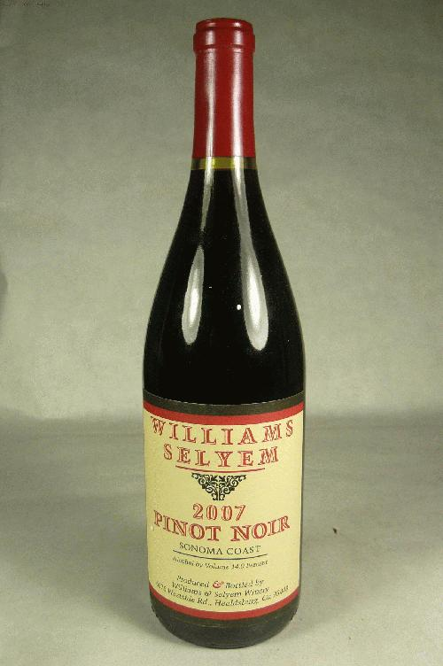 2007 Williams Selyem Pinot Noir Sonoma Coast Pinot Noir