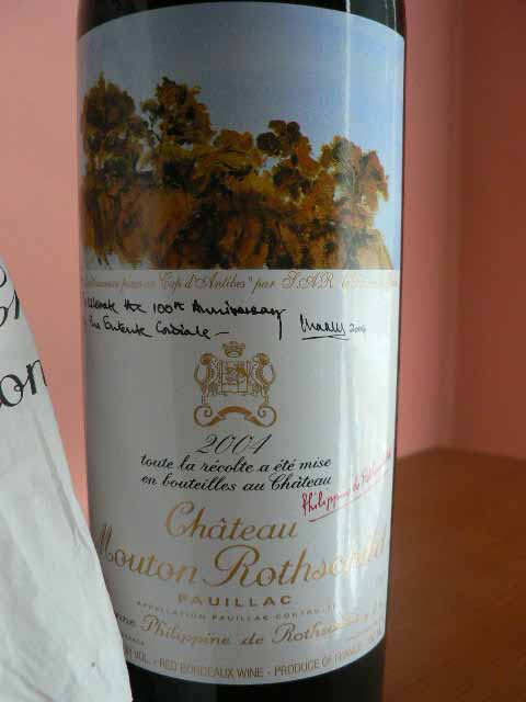 2004 Mouton-Rothschild  Pauillac Bordeaux Red - 750ml.
