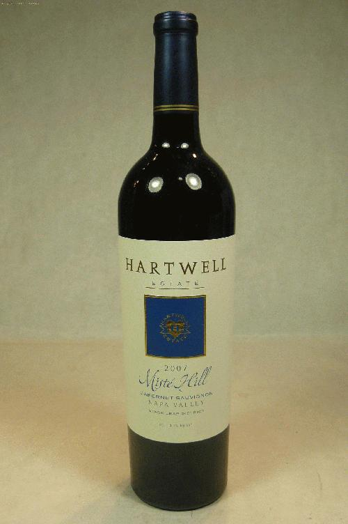 2007 Hartwell Cabernet Sauvignon Miste Hill Cabernet Sauvignon