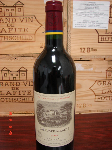 2000 Chateau Lafite-Rothschild Carruades de Lafite *** Perfect  Condition ***