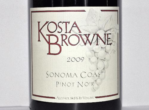 2009 Kosta Browne Pinot Noir Sonoma Coast Wine Spectator 2011 Wine of the Year! WS 95 Perfect Bottle No Reserve