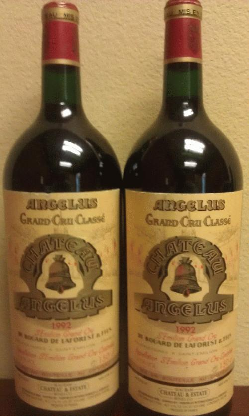1992 Angelus *** 1500 mL *** Dutch lot of 2 *** SUPER RARE - 2nd time EVER on the Commune in any size!!!! *** $1 start and no reserve for a hard to find classic ********