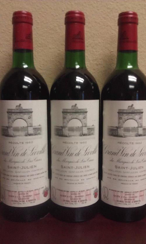1982 Leoville-Las Cases *** Dutch lot of 3 *** ROBERT PARKER 100 POINTS!!! *** $1 start - don't miss chance to steal a 100 point wine from THE legendary vintage!!!