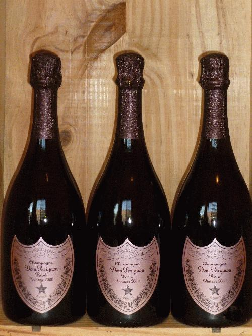 2000 Moet Chandon Dom Perignon Rose  **  WA96 AG96 POINTS  **   3 PERFECT BOTTLES AVAILABLE  **  A GREAT DOM ROSE!!!