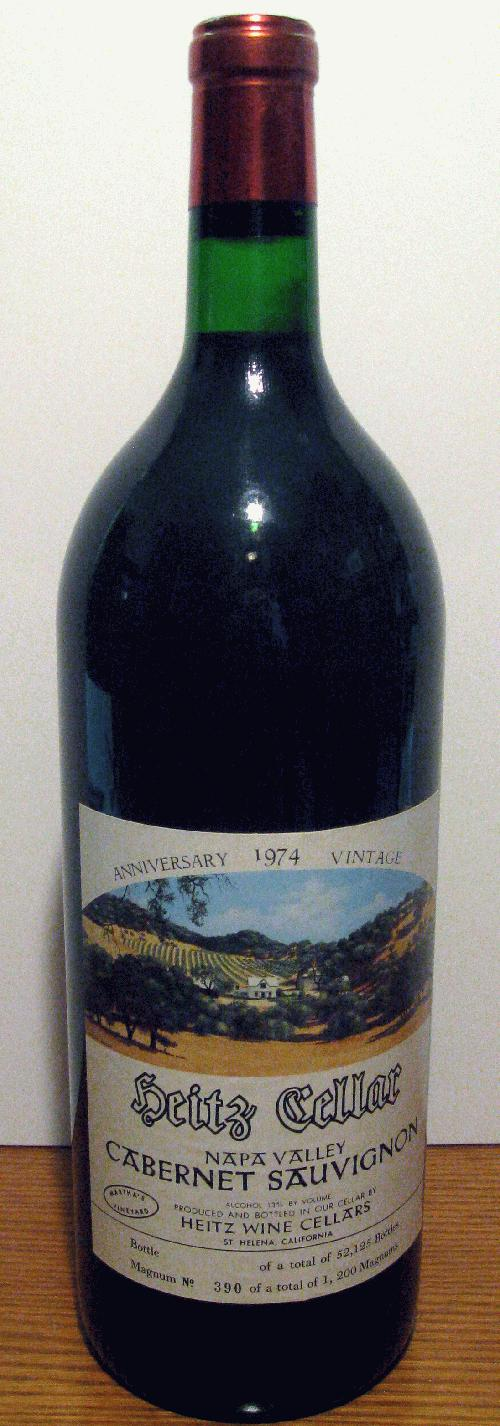 "1974 Heitz Cabernet Sauvignon Martha's Vineyard MAGNUM ""Monumental Effort"" RP 98pts"