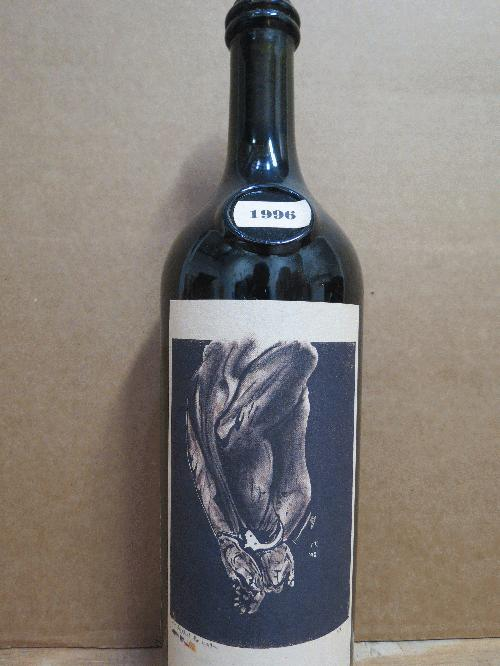 1996 Sine Qua Non Against The Wall Santa Barbara *** PARKER 96 (Hedonist's Gazette) *** $1 start and no reserve for a Napa cult classic!!! *** See my other SQN lots *********