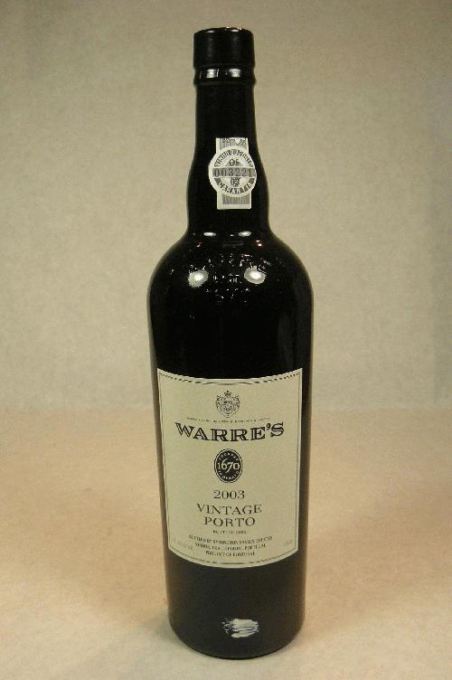 2003 Warre Vintage Port PortST:92WA:93