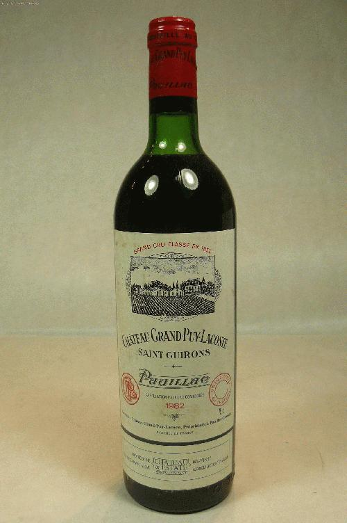 1982 Grand-Puy-Lacoste  Bordeaux BlendST:91WA:93WS:92