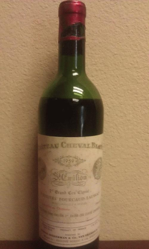 1959 Cheval Blanc *** EXTREMELY RARE 1959 VINTAGE!!! *** $1 START AND NO RESERVE FOR A MUSEUM PIECE!!! *** See my other historic lots *******