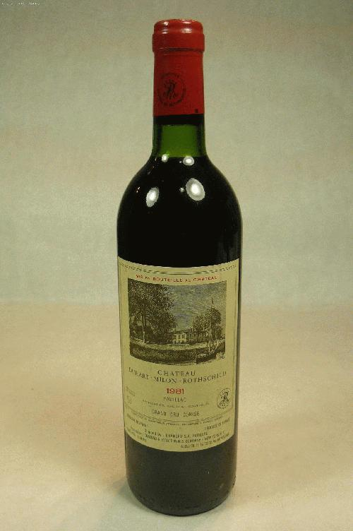 1981 Duhart-Milon-Rothschild  Bordeaux Blend