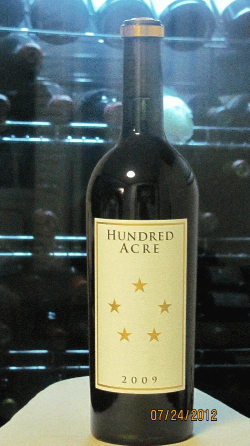 2009 Hundred Acre Vineyard Cabernet Sauvignon Ark Vineyard 95-97 WA