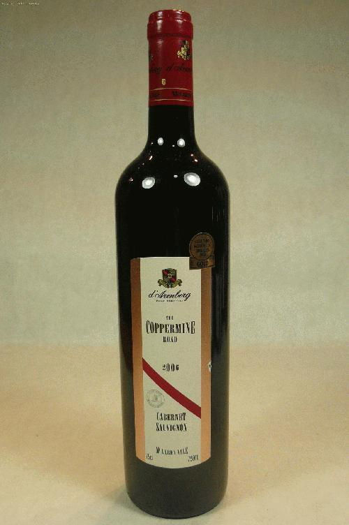 2006 d'Arenberg The Coppermine Road Cabernet SauvignonWA:93