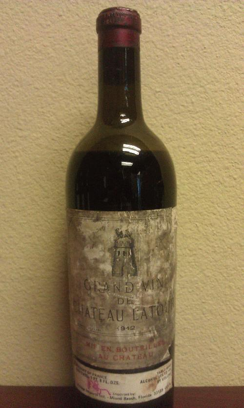 1912 Latour, Chateau *** YES, 1912!!! *** NO RESERVE / $1 START FOR A MUSEUM PIECE!!! *** Tell your friends it was on the Titanic (it wasn't really) ************