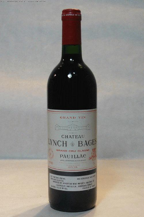 1990 Lynch Bages  Bordeaux BlendWS:93WA:95