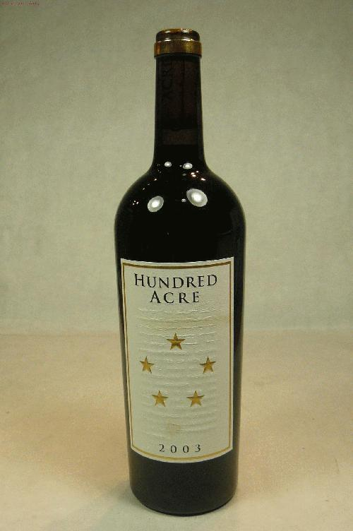 2003 Hundred Acre Vineyard Cabernet Sauvignon Kayli Morgan Vineyard Cabernet SauvignonWA:95ST:93-95