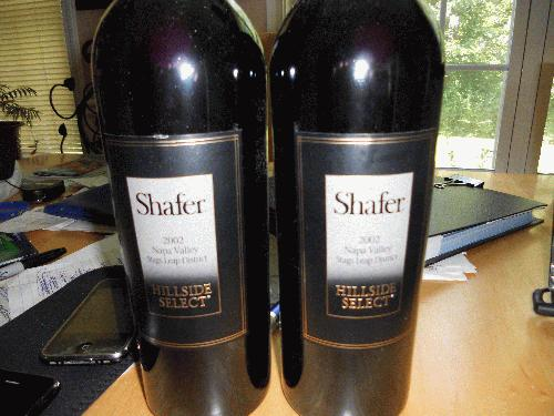 2002 Shafer Vineyards Cabernet Sauvignon Hillside Select Napa PERFECT RP100 THREE TIMES IN A ROW!! Lowest Price on net $375-$699 SEE MY OTHER LOTS