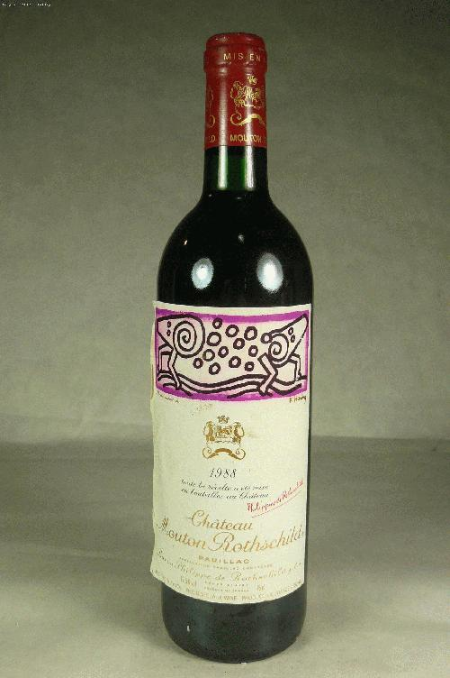 1988 Mouton-Rothschild  Bordeaux BlendWS:92