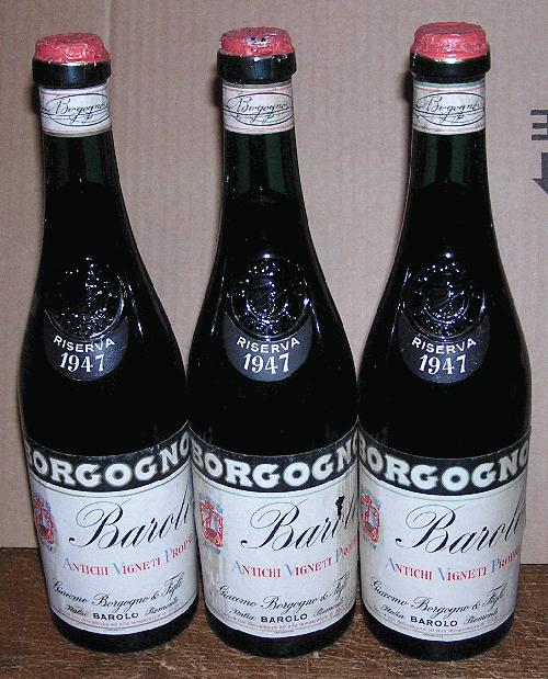 1947 Borgogno, Giacomo Barolo Classico Riserva - 6 BOTTLES - one of the best vintages of the century!