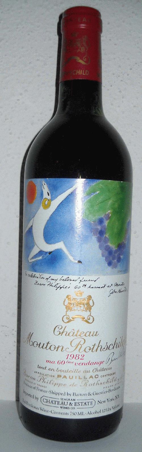 1982 Chateau Mouton Rothschild  - RP 100 - LEGENDARY benchmark wine to which all others are compared! Lowest price anywhere!! ~~~ *Gather Ye Rosebuds While Ye May*