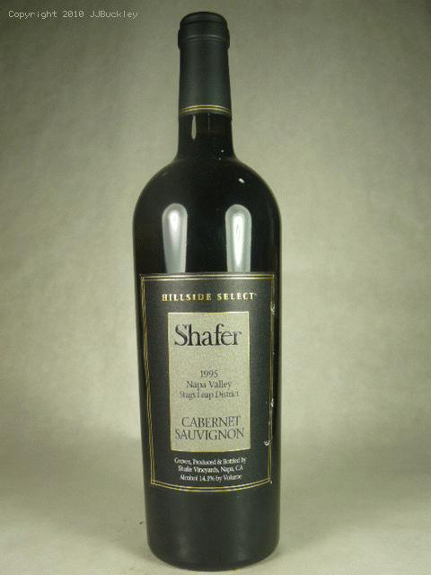 1995 Shafer Vineyards Cabernet Sauvignon Hillside Select Cabernet SauvignonWA:99ST:93