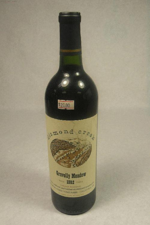 1982 Diamond Creek Cabernet Sauvignon Gravelly Meadow Cabernet Sauvignon