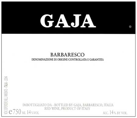 "1997 Gaja Barbaresco  ""This work of art is worth every cent"" RP 94pts"