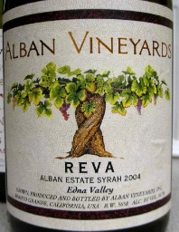 2007 Alban Vineyards Syrah Reva Alban Estate Vineyard San Luis Obispo Edna Valley  WS 94/RP 96