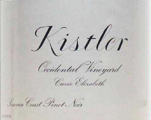 "2000 Kistler Pinot Noir Occidental Vineyard Cuvee Elizabeth ""One of the most remarkable New World Pinots I have ever tasted"" RP99pts"