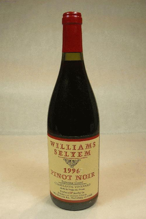 1996 Williams Selyem Pinot Noir Coastlands Vineyard Pinot NoirST:90