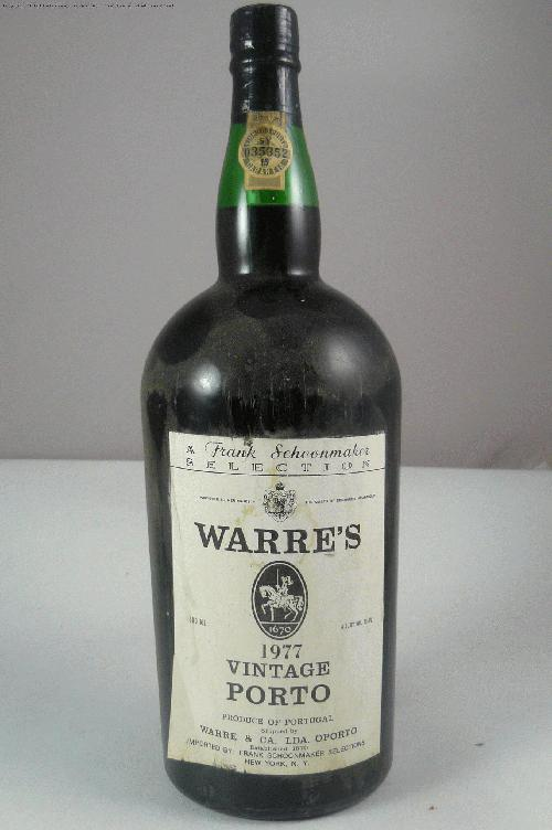 1977 Warre Vintage Port Port 1500mlWS:93WA:92