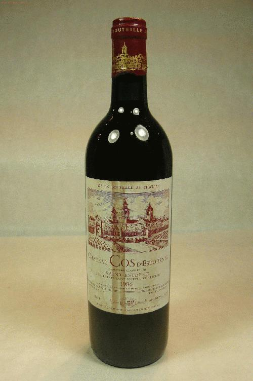 1986 Cos d'Estournel  Bordeaux BlendWA:95WS:93