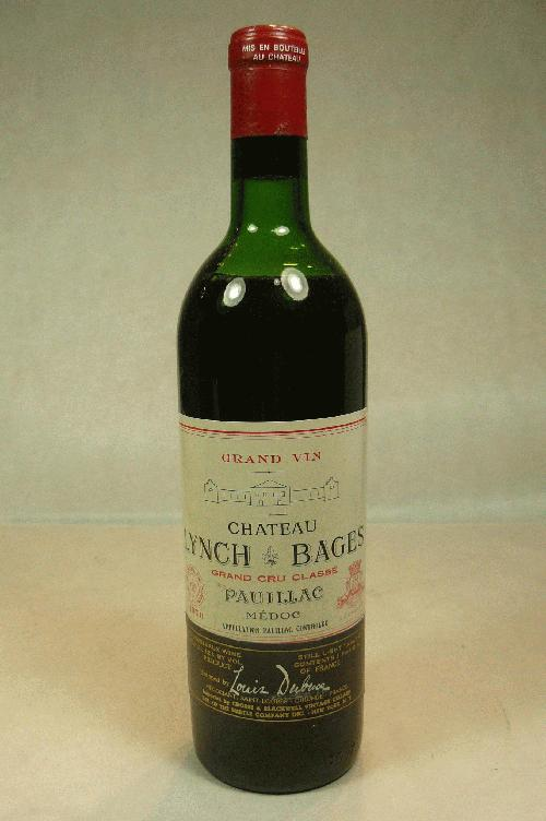 1970 Lynch Bages  Bordeaux BlendWS:92WA:91