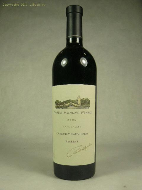 2006 Mondavi, Robert Cabernet Sauvignon Reserve Cabernet SauvignonWS:96WA:94