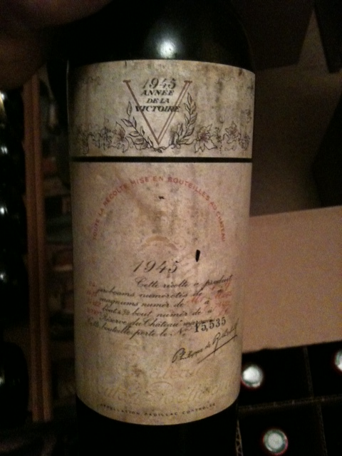 1945 Mouton-Rothschild   100RP EVERY TIME TASTED. 3 BOTTLES AVAILABLE. READ SCORE!! Will send more pics if interested of capsules, fill levels, labels, etc.. RP-$14,616-$23K
