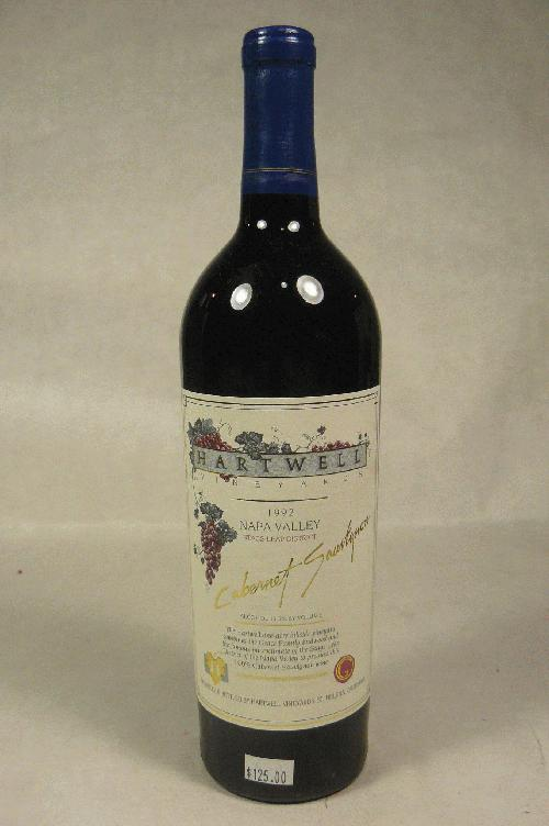 1992 Hartwell Cabernet Sauvignon Stag's Leap District Cabernet Sauvignon