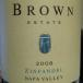 2008 Brown Estate Zinfandel, Napa Valley