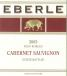 2004 Eberle Cabernet Sauvignon Estate Bottled